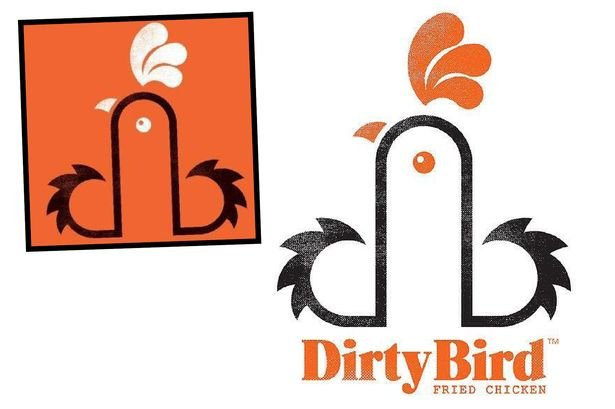 bonus a restaurant dirtybird has a logo thats getting tweeted a lot because it looks phallic the restaurant says its just a clever way to put the d and b together that looks like a rooster - Dirty Bird Chicken Logo