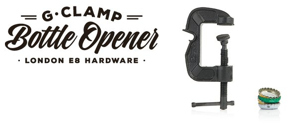 59018 620 250 02 1 - G-Clamp Bottle Opener: Temporarily attaches anywhere.
