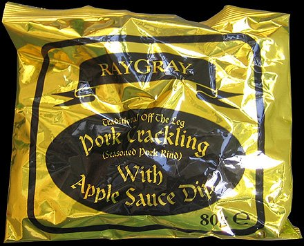 Ray Gray Apple Sauce Dip Pork Crackling Review - Ray Gray, Apple Sauce Dip Pork Crackling Review