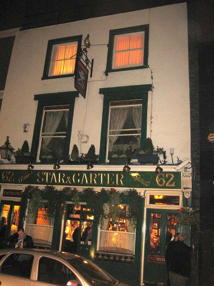 The Star and Garter Soho London Pub Review - The Star and Garter, Soho, London - Pub Review