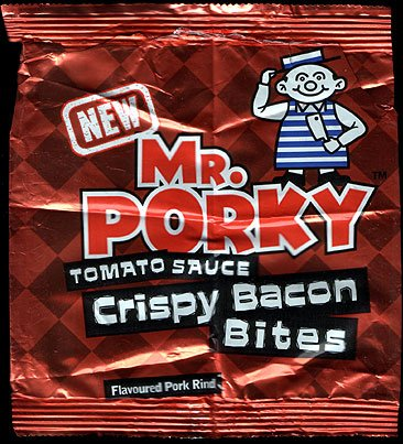Mr Porky Tomato Sauce Crispy Bacon Bites None Review - The Rise and Rise of Luxury Pork Scratchings