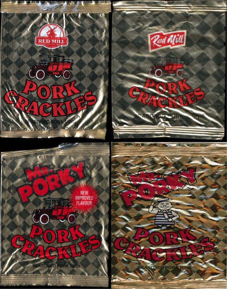 evolution of a pork scratchings bag - Mr Porky - Evolution of a bag