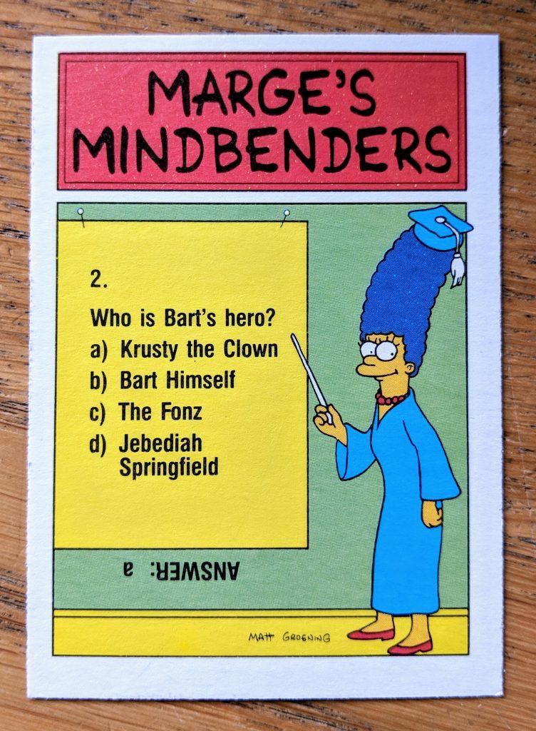 homer simpson pork rinds topps card back 752x1024 - Homer Simpson, Pork Rinds - Topps Trading / Bubblegum Card