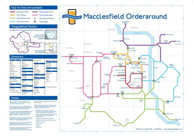 0 JS186012568 - Macclesfield's pubs immortalised on London Underground-style map