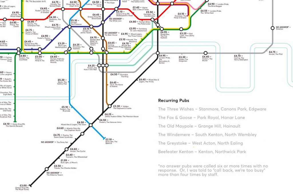 pubmap7 1024x683 - Redesigned Tube map shows cheapest pints of beer close to London stations