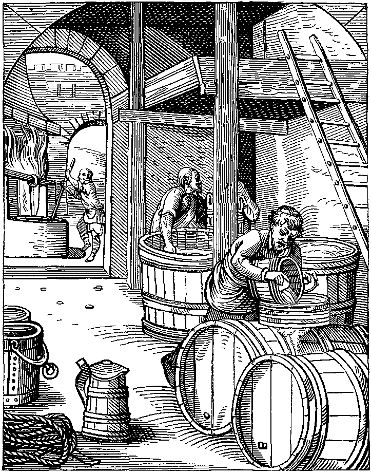 The Brewer designed and engraved in the Sixteenth. Century by J Amman - How beer came to medieval England
