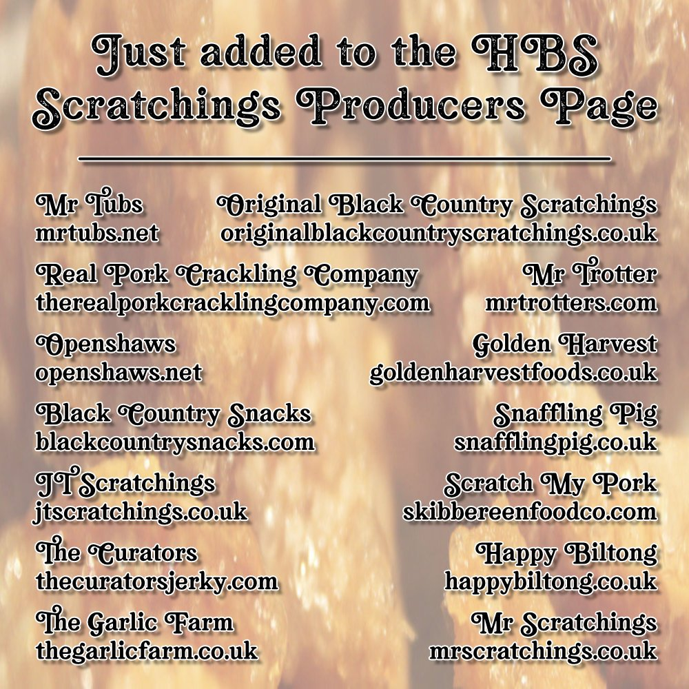 pork scratching producers - Just added to the Hairy Bar Snacks Producers Page