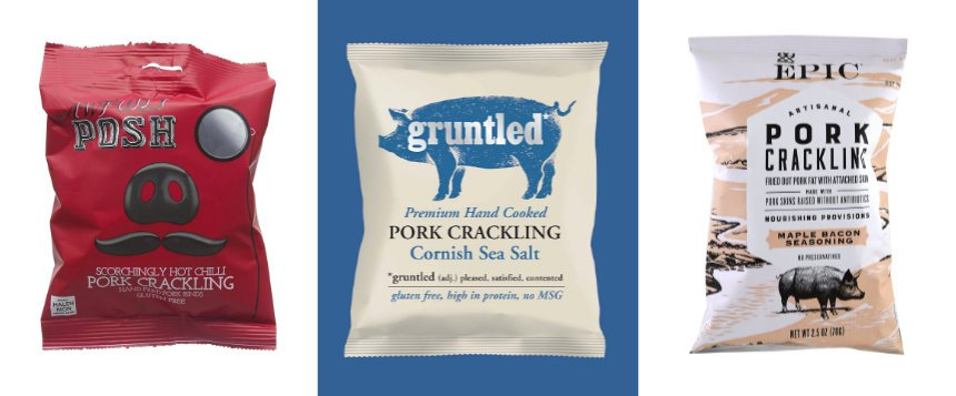 posh artisinal pork cracklingx3 - The Rise and Rise of Luxury Pork Scratchings