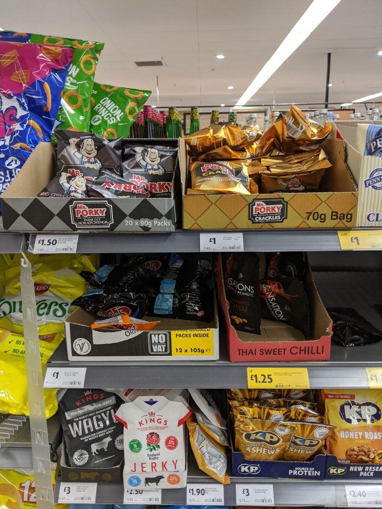mr porky pork crackles and scratchings at morrisons supermarket 768x1024 - Morrisons now sell Midland Snacks Pork Scratchings